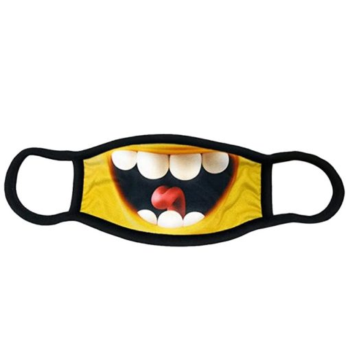 lustige Stoffmaske Smiley Schweiz