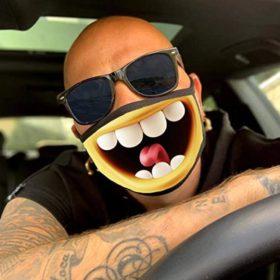 lustige Stoffmaske Smiley kaufen