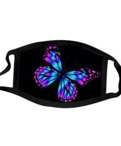 Bedruckte Stoffmasken Schmetterling