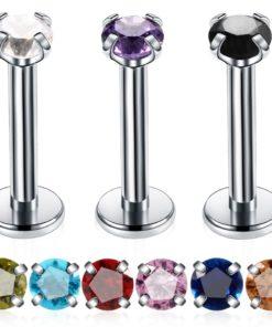 Lippenpiercing mit Zirkon-KristallDrehverschluss kaufen Schweiz