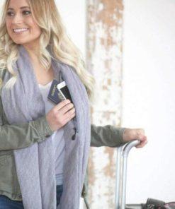 Schlauch Schal mit versteckter Reissverschlusstasche
