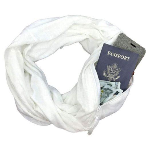Damen Schal mit versteckter Tasche