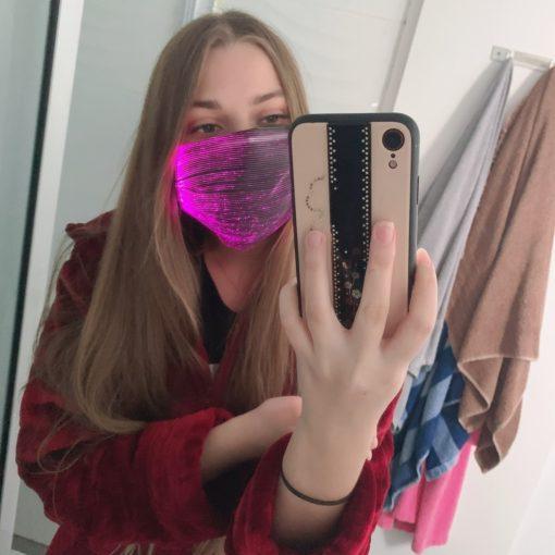 Mundschutz Maske mit LED schweiz