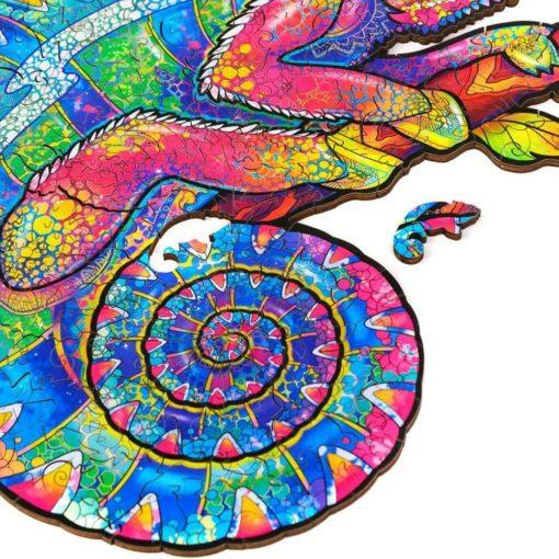 Puzzle aus kleinen Tieren Chamäleon