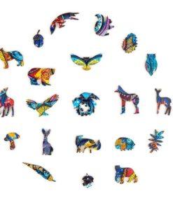 Magisches Holz Puzzle aus Tier Teilen