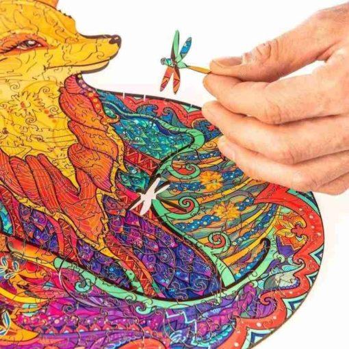 Farbiges Tier Puzzle aus Holz kaufen Schweiz