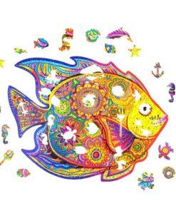 Fisch Puzzle aus vielen kleinen Tieren