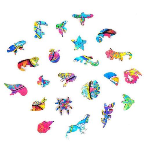Magisches Puzzle Chamäleon Tierformen