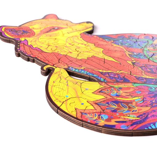 Magisches Holzpuzzle Fuchs Farbig