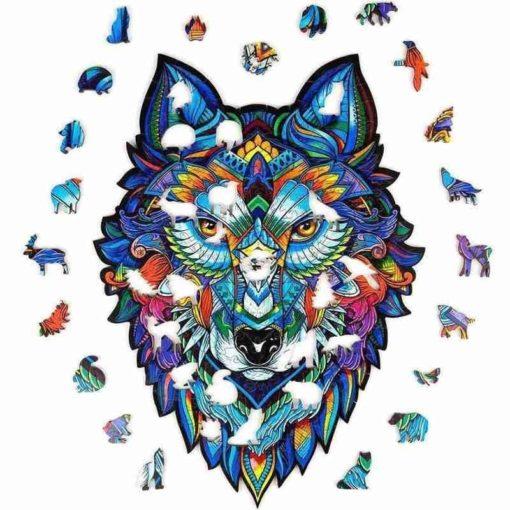 Magisches Wolf Puzzle aus Tierteilen kaufen Schweiz