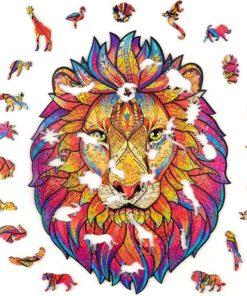 magisches Puzzle aus Tier Teilen Löwe