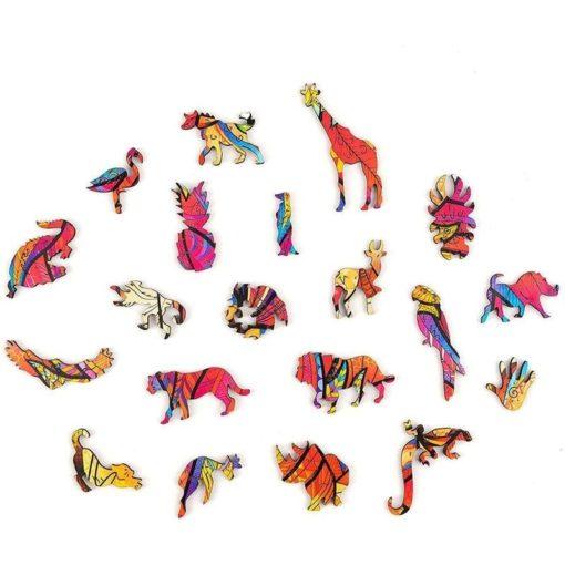 Magisches Puzzle aus Tieren Löwe