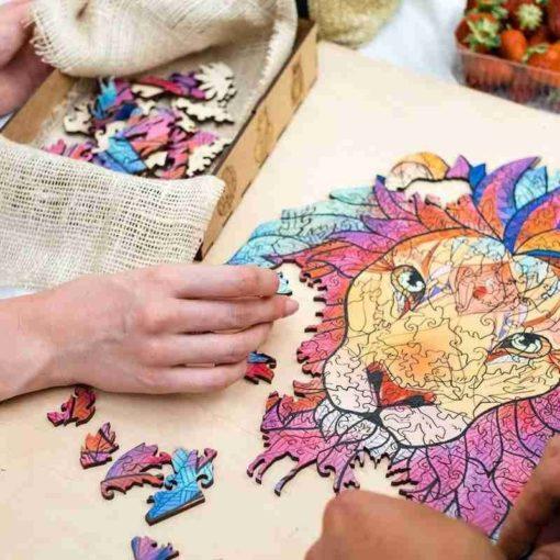 Löwe Puzzle aus Tierteilen Schweiz