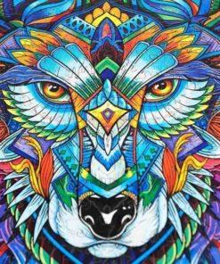 magisches Wolf Puzzle aus Tierteilen