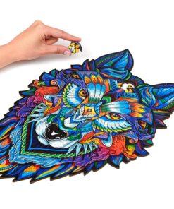 Holzpuzzle aus vielen Tieren
