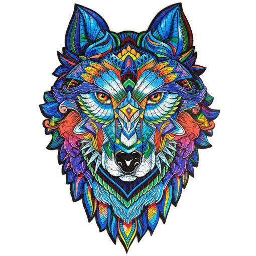 Puzzle aus kleinen Tieren Wolf