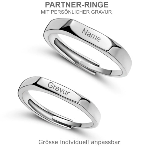 Gravierte Partner Fingerringe