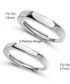 Partner Fingerringe mit Gravur