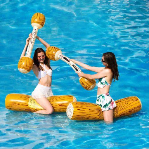 Aufblasbares Pool-Battle-Set Holzstämme