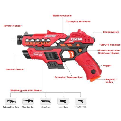 Kinder Infrarot Laser-Pistole Laser Battle