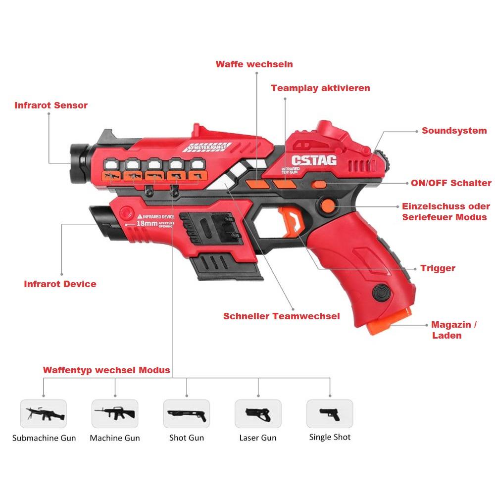 Lasertag Pistolen Set kaufen Schweiz