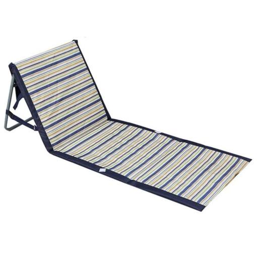 Faltbare Liegematte Strandmatte mit Rückenlehne
