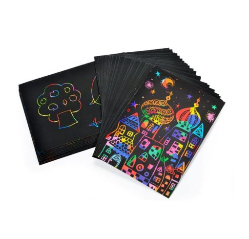 Kratzpapier A5 Regenbogen