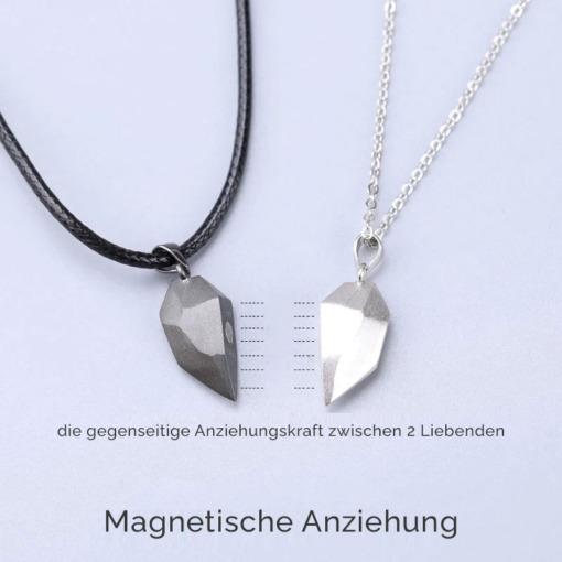 Magnetisches Herz Halskette Partnerschmuck
