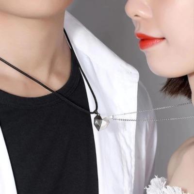 Partner Halskette Magnetisch Herz