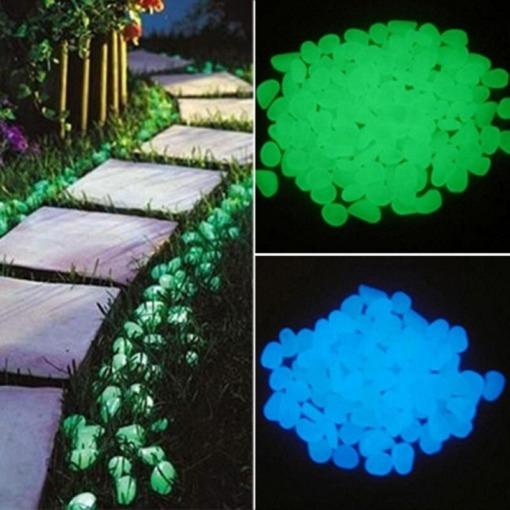leuchtende Garten Steine