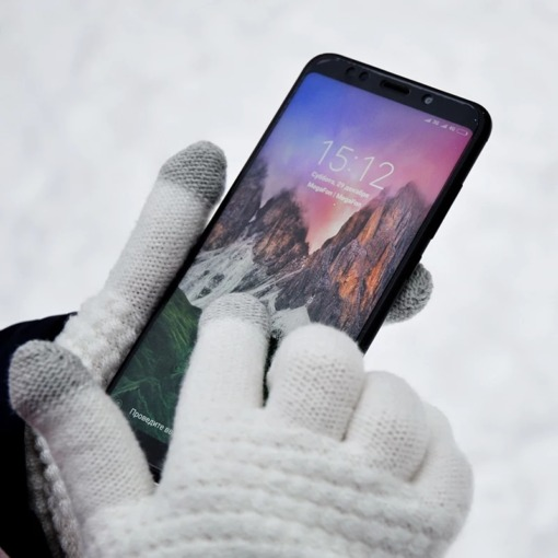 Gestrickte Winter-Handschuhe