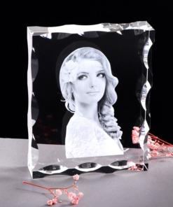 eigenes Foto gravieren in Glasrahmen