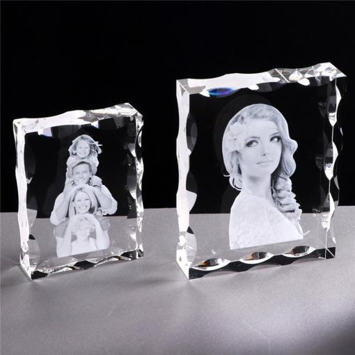 Foto Glasrahmen Gravur Kristall