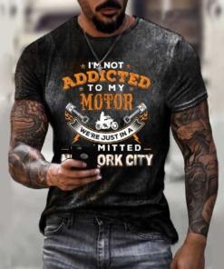 Herren rostige T-Shirt Vintage
