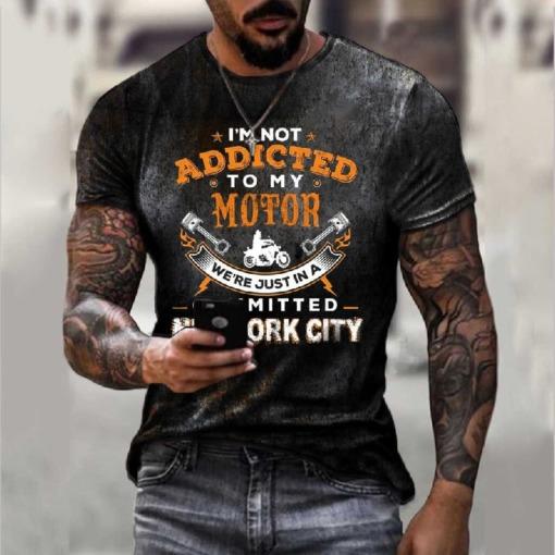 "Herren rostige T-Shirt Vintage ""Route 66"""