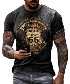 "Herren T-Shirt Vintage ""Route 66"""