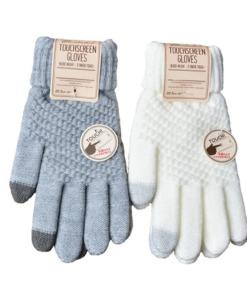 Gestrickte Winter-Handschuhe mit Touch