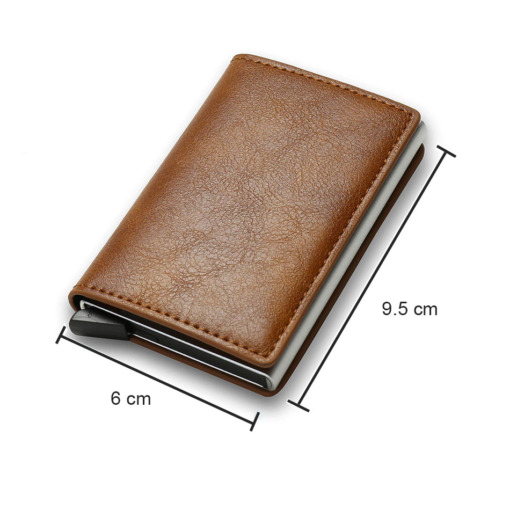 Leder RFID Wallet braun