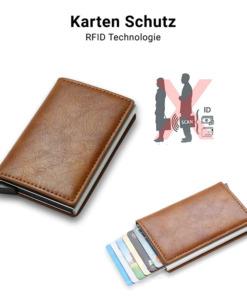 Leder Portemonnaie RFID
