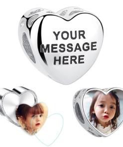 Foto Herz Anhänger Silber