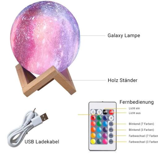 Galaxy Lampe Nachtlicht