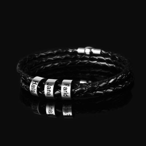 Armband mit Namen Ringe