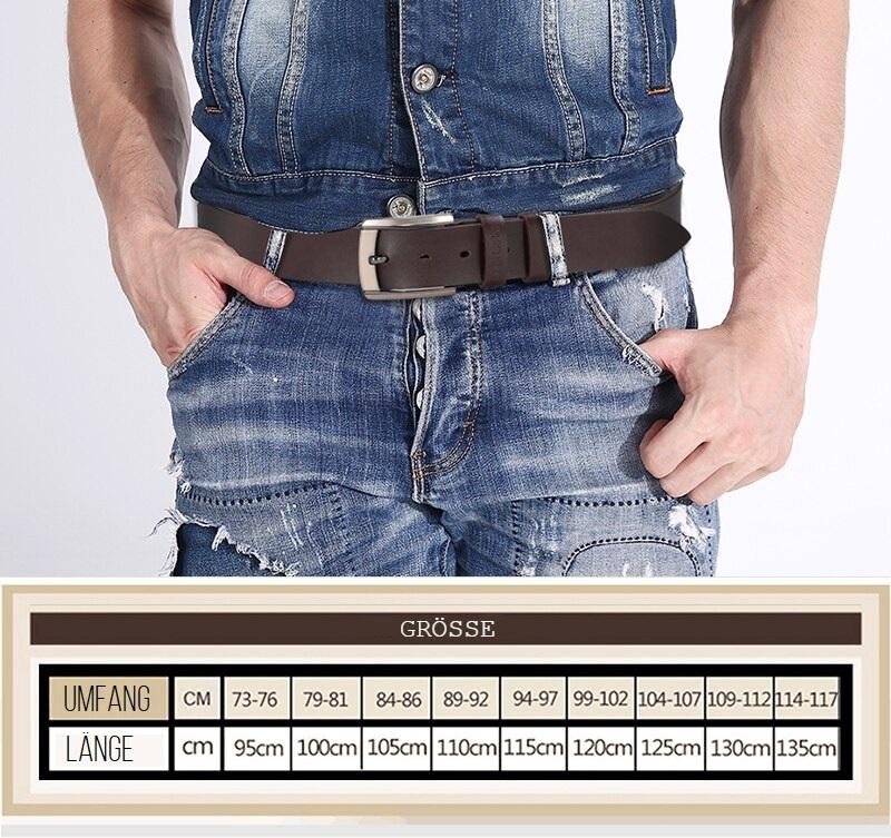 Echt-Leder Gurt für Männer