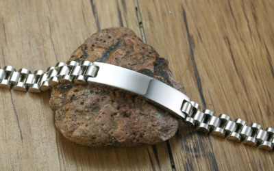 Silber Männer Armband mit Gravur