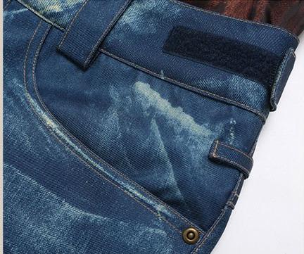 Damen Skihose Jeans Optik