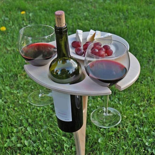 Klappbarer Holz Picknicktisch