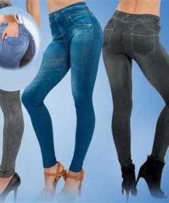 gefütterte Jeans Leggings Jeggins