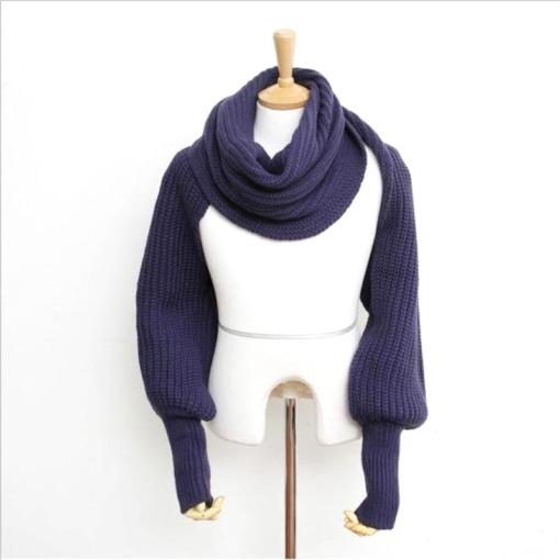Poncho Schal mit Ärmel