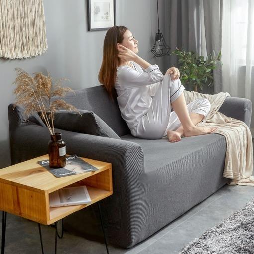 Stretch Sofabezug Jacquard