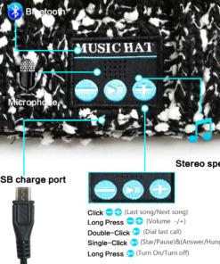 Wintermütze mit Bluetooth Telefon Musik